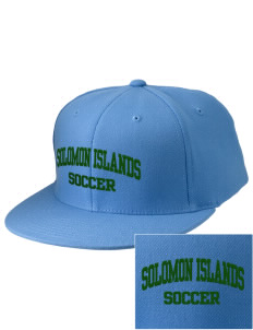 Solomon Islands Soccer Embroidered Diamond Series Fitted Cap