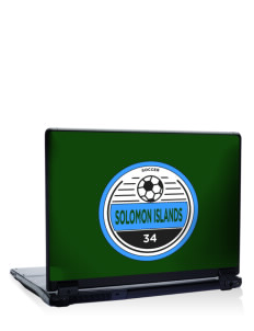 "Solomon Islands Soccer 17"" Laptop Skin"