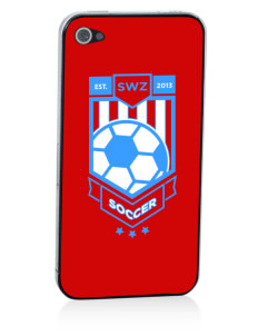 Swaziland Soccer Apple iPhone 4/4S Skin