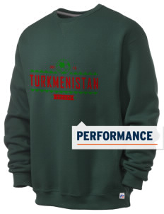 Turkmenistan Soccer  Russell Men's Dri-Power Crewneck Sweatshirt