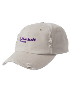 Mitchell Elementary School Sharks Embroidered Distressed Cap