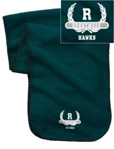 Runnymede Elementary School Hawks Embroidered Fleece Scarf