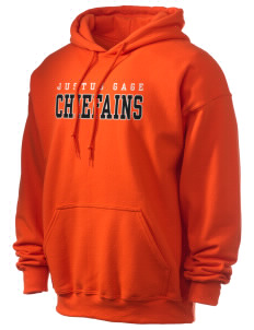 Justus Gage Elementary School Chiefains Ultra Blend 50/50 Hooded Sweatshirt