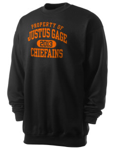 Justus Gage Elementary School Chiefains Men's 7.8 oz Lightweight Crewneck Sweatshirt