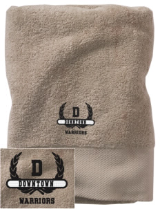 Downtown Middle School Warriors Embroidered Zero Twist Resort Towel