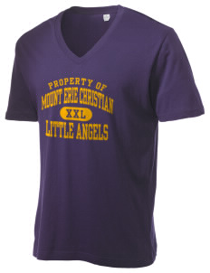 Mount Erie Christian Academy Little Angels Alternative Men's 3.7 oz Basic V-Neck T-Shirt