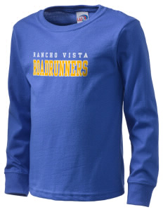 Rancho Vista Elementary School Roadrunners  Kid's Long Sleeve T-Shirt