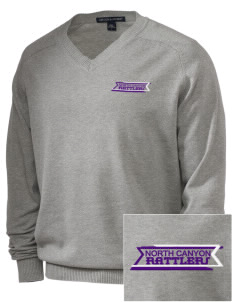 North Canyon High School Rattlers Embroidered Men's V-Neck Sweater