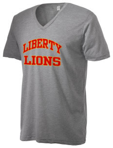 Liberty Alternative Education Center Lions Alternative Men's 3.7 oz Basic V-Neck T-Shirt