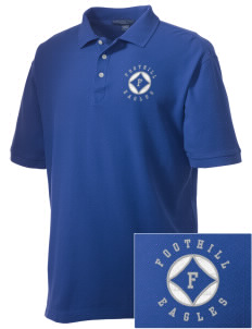 Foothill Middle School Eagles Embroidered Men's Performance Plus Pique Polo