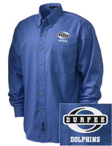 Durfee Elementary School Dolphins Embroidered Tall Men's Twill Shirt