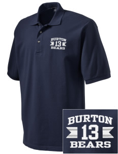 Burton Elementary School Bears Embroidered Tall Men's Pique Polo