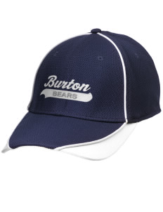 Burton Elementary School Bears Embroidered New Era Contrast Piped Performance Cap