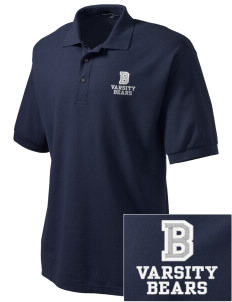 Burton Elementary School Bears Embroidered Tall Men's Silk Touch Polo