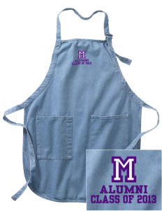 Modoc Middle School Warriors Embroidered Full-Length Apron with Pockets