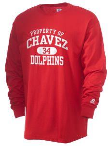 Chavez Elementary School Dolphins  Russell Men's Long Sleeve T-Shirt