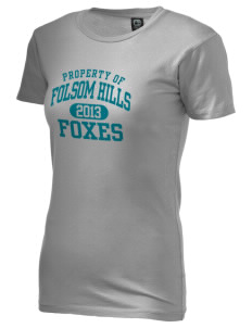 Folsom Hills Elementary School Foxes Alternative Women's Basic Crew T-Shirt