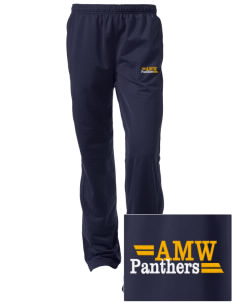 A M Winn Elementary School Panthers Embroidered Women's Tricot Track Pants