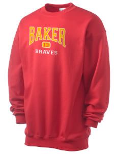 Baker Elementary School Braves Men's 7.8 oz Lightweight Crewneck Sweatshirt