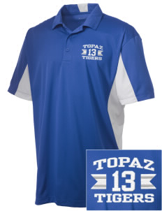 Topaz Elementary School Tigers Embroidered Men's Side Blocked Micro Pique Polo