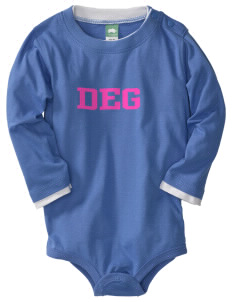 Doctor Ernest Garcia Elementary School Grizzlies  Baby Long Sleeve 1-Piece with Shoulder Snaps