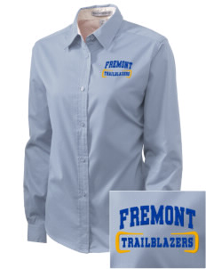 Fremont Middle School Trailblazers Embroidered Women's Easy-Care Shirt