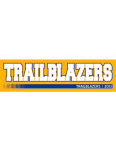 "Fremont Middle School Trailblazers Bumper Sticker 11"" x 3"""