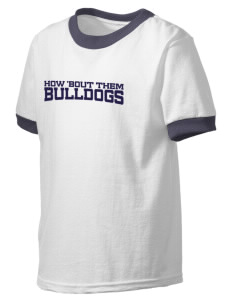 North Valley Continuation High School Bulldogs Kid's Ringer T-Shirt