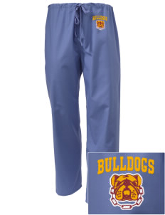 North Valley Continuation High School Bulldogs Embroidered Scrub Pants