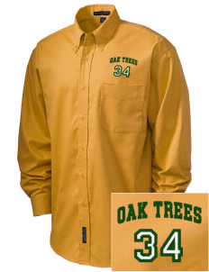 Anderson Partnership Learning Center Oak Trees Embroidered Men's Easy-Care Shirt