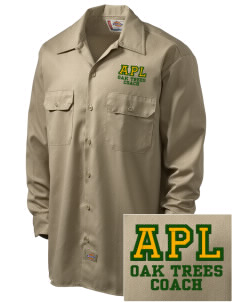 Anderson Partnership Learning Center Oak Trees Embroidered Dickies Men's Long-Sleeve Workshirt