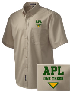 Anderson Partnership Learning Center Oak Trees Embroidered Men's Easy Care Shirt