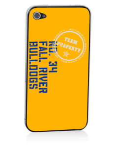 Fall River Senior High School Bulldogs Apple iPhone 4/4S Skin