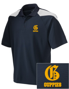 Grant Elementary School Guppies Embroidered Holloway Men's Frequency Performance Pique Polo