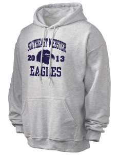 Southeast Webster Middle School Eagles Ultra Blend 50/50 Hooded Sweatshirt