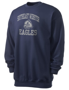 Southeast Webster Middle School Eagles Men's 7.8 oz Lightweight Crewneck Sweatshirt