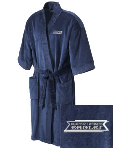 Southeast Webster Middle School Eagles Embroidered Terry Velour Robe