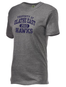 Olathe East High School Hawks Alternative Unisex Eco Heather T-Shirt