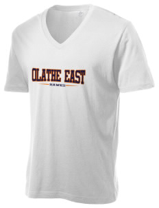 Olathe East High School Hawks Alternative Men's 3.7 oz Basic V-Neck T-Shirt