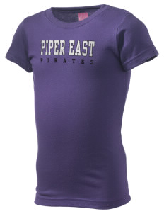 Piper East Elementary School Pirates  Girl's Fine Jersey Longer Length T-Shirt