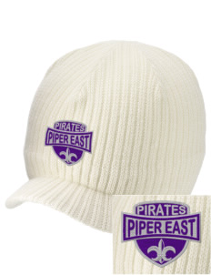 Piper East Elementary School Pirates Embroidered Knit Beanie with Visor