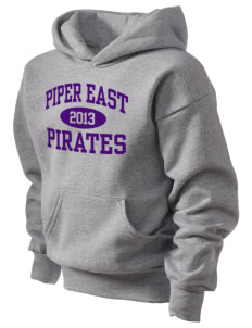 Piper East Elementary School Pirates Kid's Hooded Sweatshirt