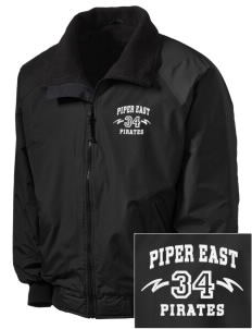 Piper East Elementary School Pirates Embroidered Men's Fleece-Lined Jacket