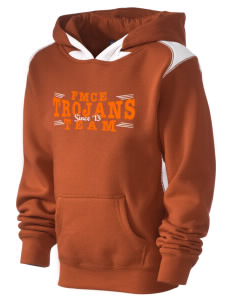 Fadden McKeown Chambliss Elementary Trojans Kid's Pullover Hooded Sweatshirt with Contrast Color