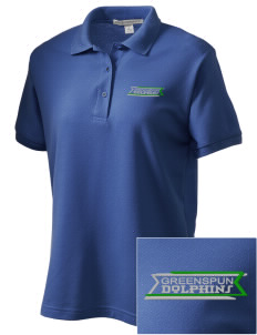 Greenspun Junior High School Dolphins Women's Embroidered Silk Touch Polo