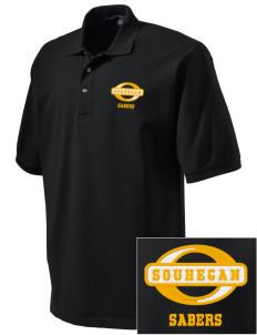 Souhegan High School Sabers Embroidered Tall Men's Pique Polo