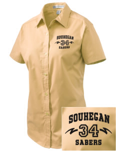Souhegan High School Sabers Embroidered Women's Easy Care Short Sleeve Shirt