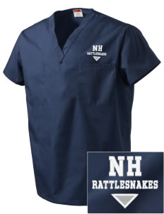 Nichols Hills Elementary School Rattlesnakes Embroidered V-Neck Scrub Top