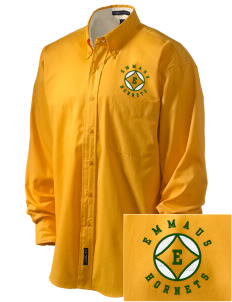 Emmaus High School Hornets Embroidered Men's Easy-Care Shirt