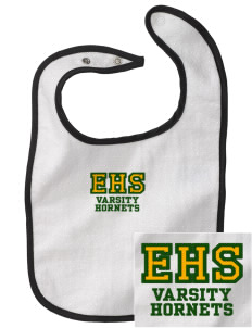 Emmaus High School Hornets Embroidered Baby Snap Terry Bib